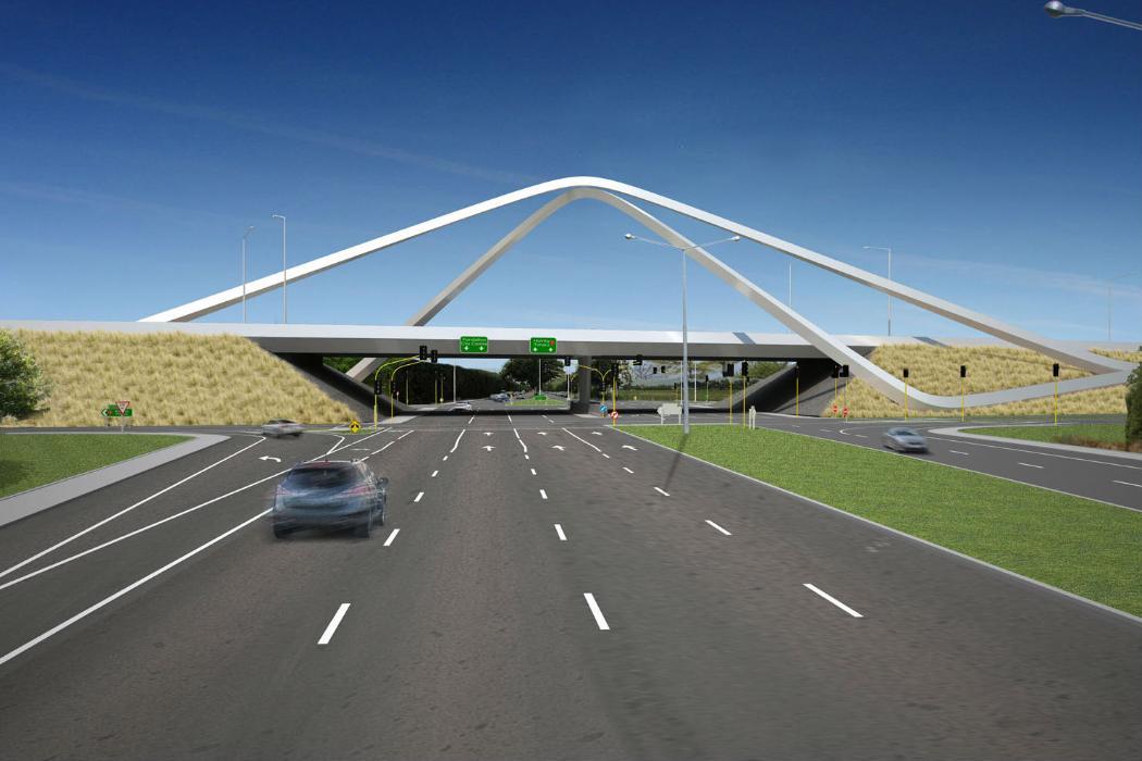 Memorial Bridge in Christchurch