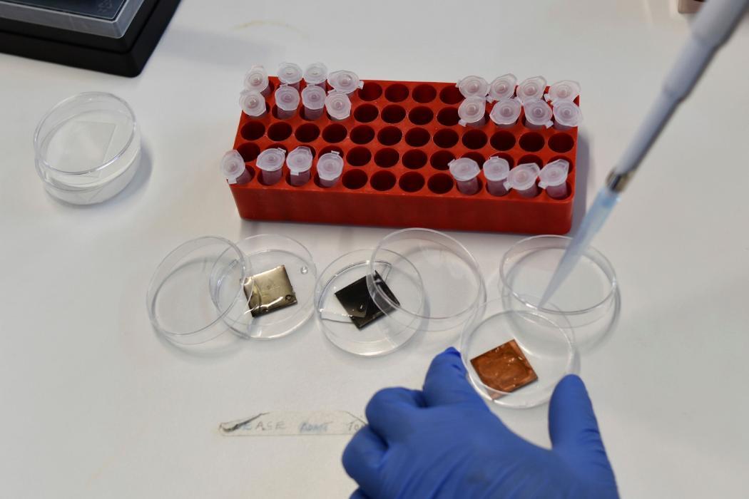 Catherine Bishop, Materials Cluster, Antimicrobial testing