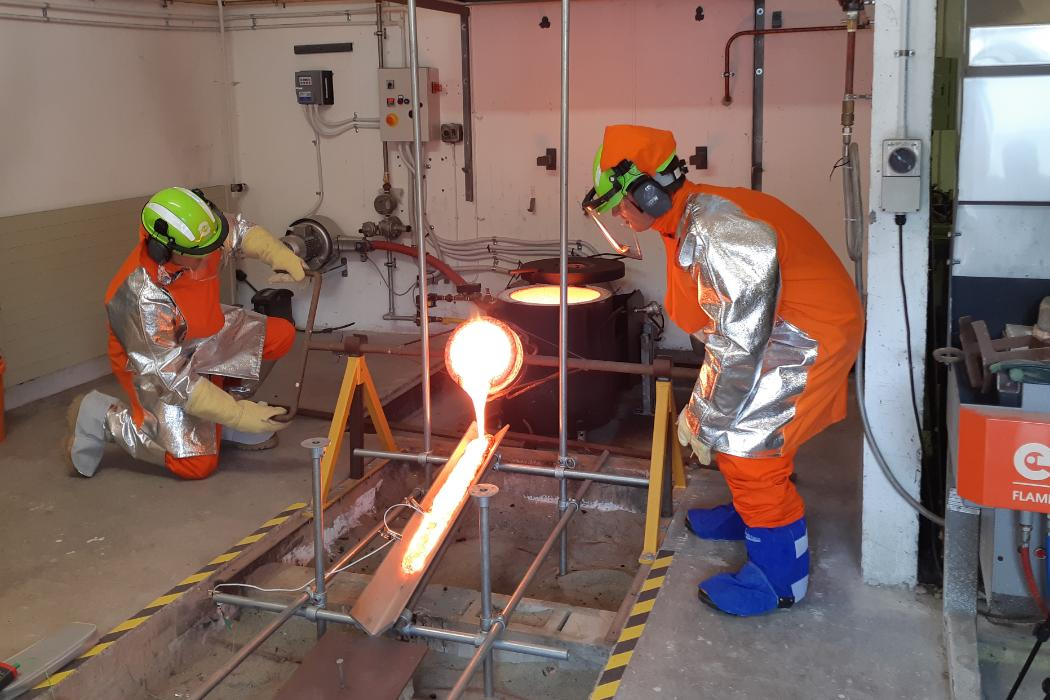 Dale Cusack and Matt Cockcroft at the Lava lab
