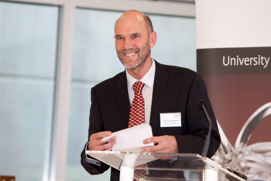 Keith Alexander receives the inaugural 2010 UC Innovation Medal