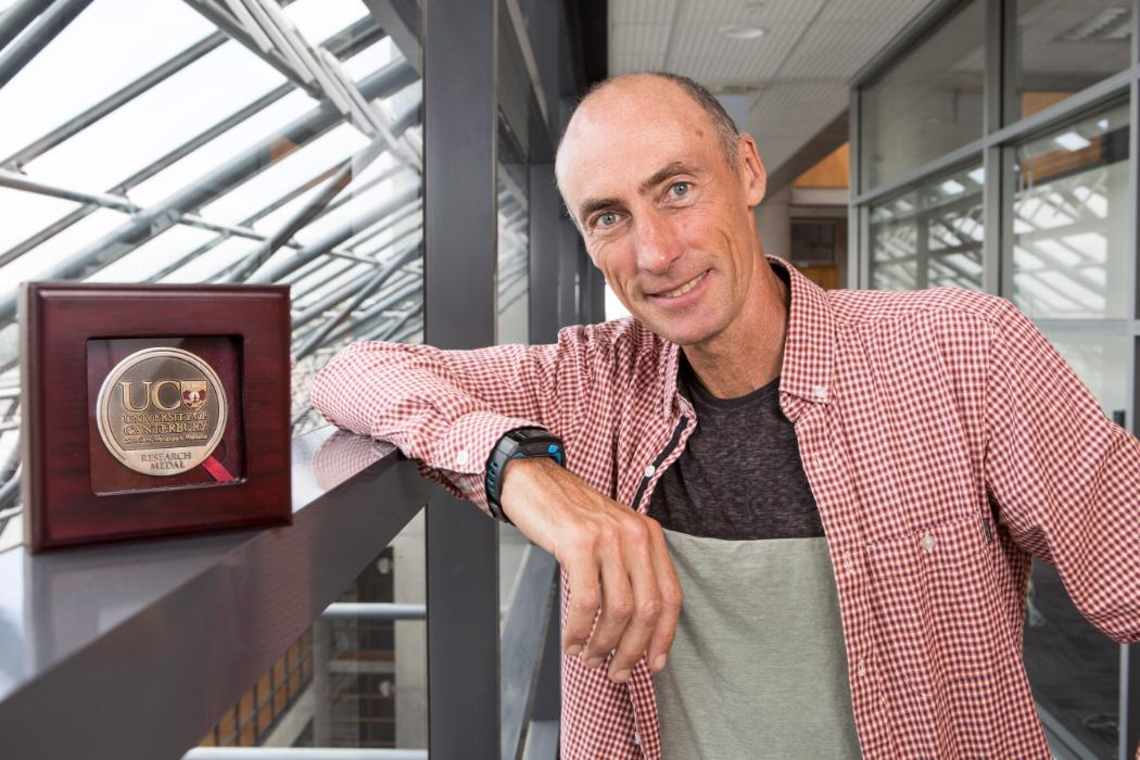 Mike Steel with 2014 research medal