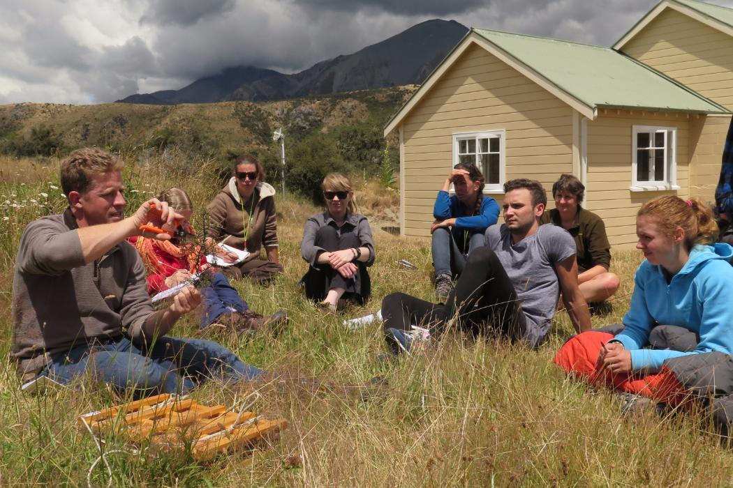 biology students out in field