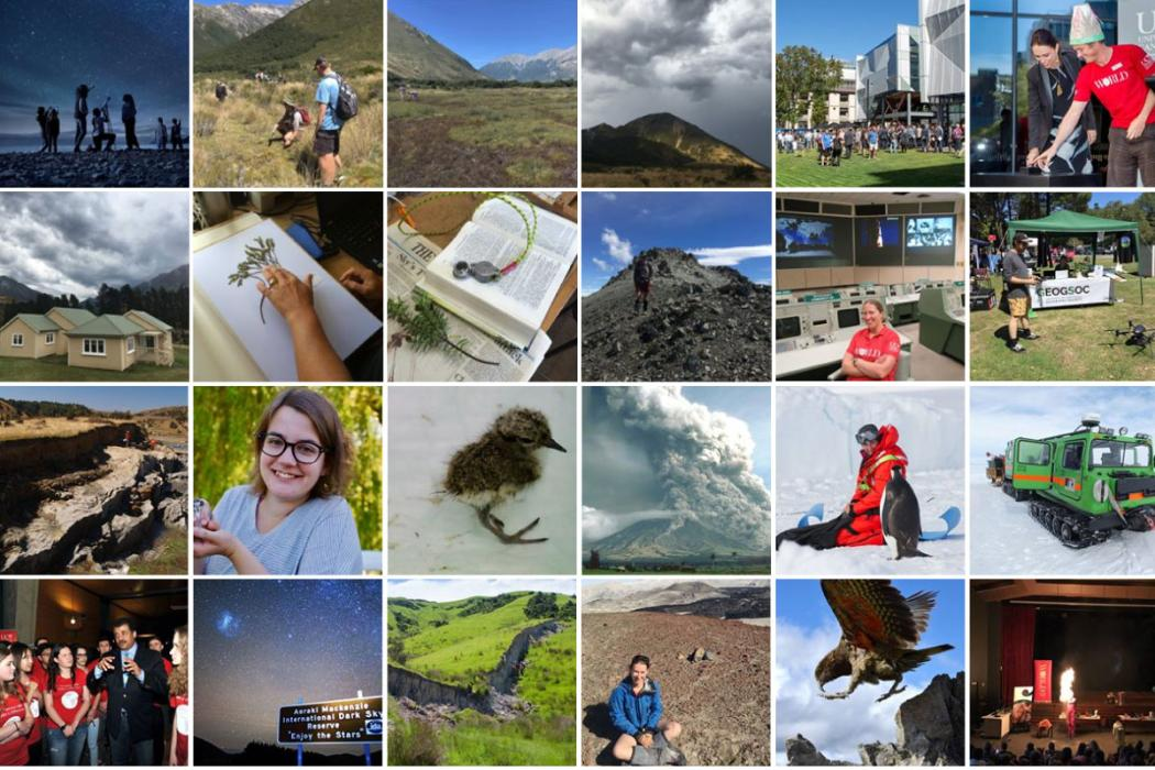 collage of images from uc science social media