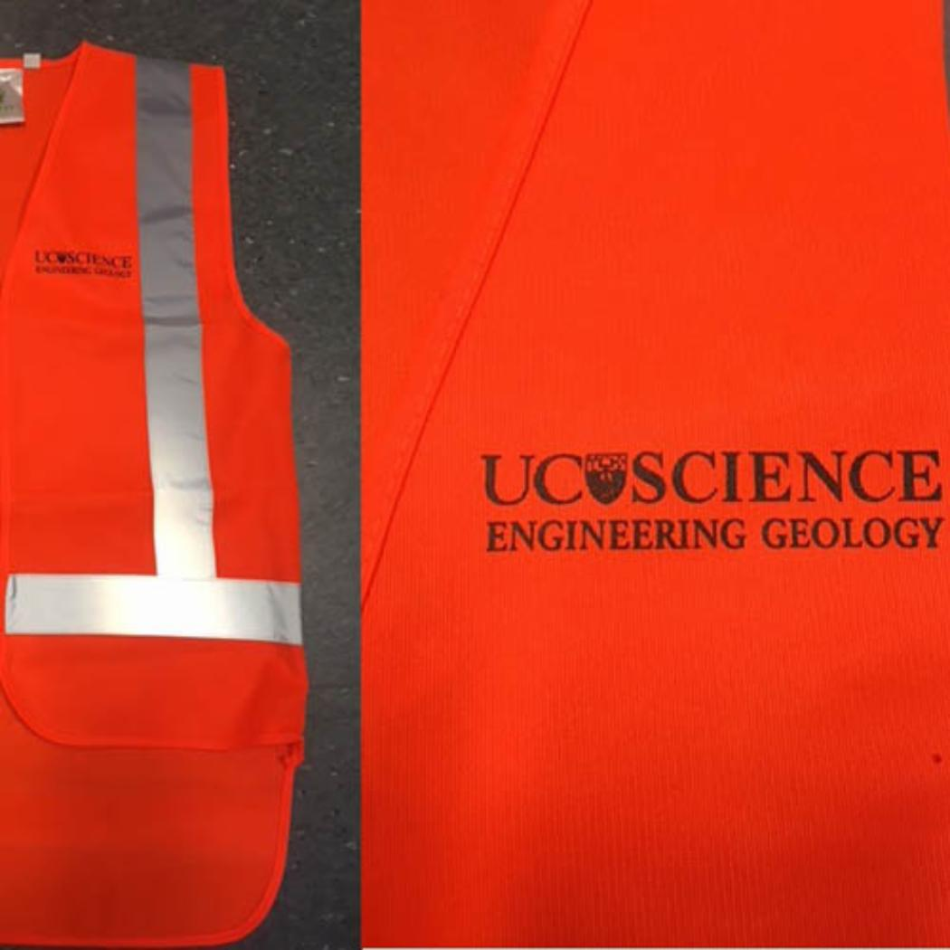 High visibility vest PMEG branded