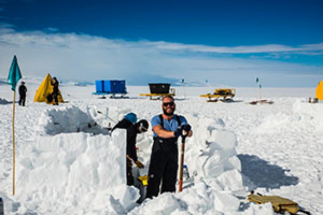 Science building igloo in Antarctica