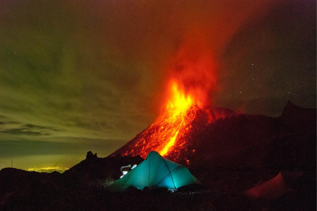 Spewing Volcano