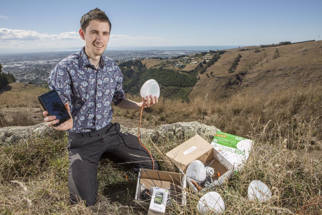Guy air quality egg Geology