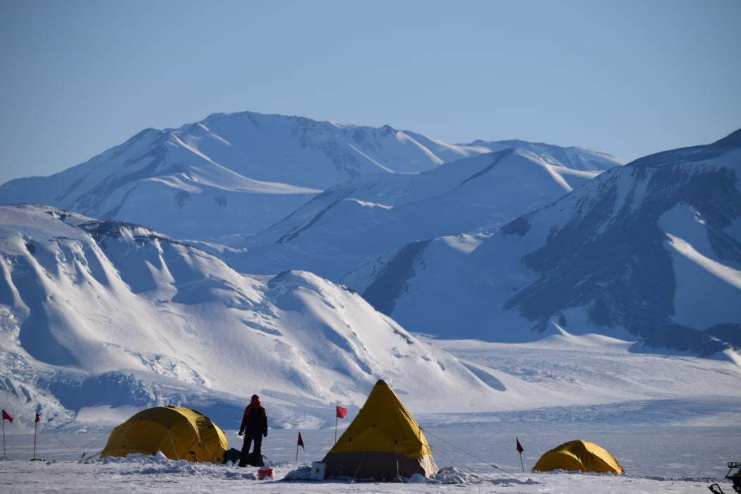 Gateway Antarctica research tents outside