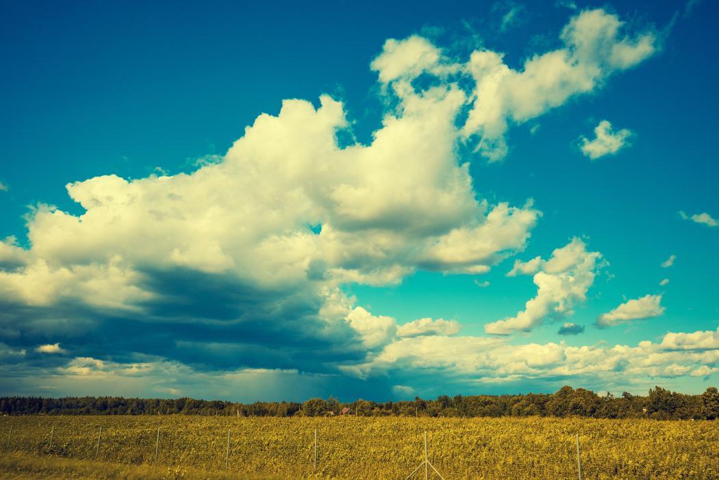 clouds against blue sky