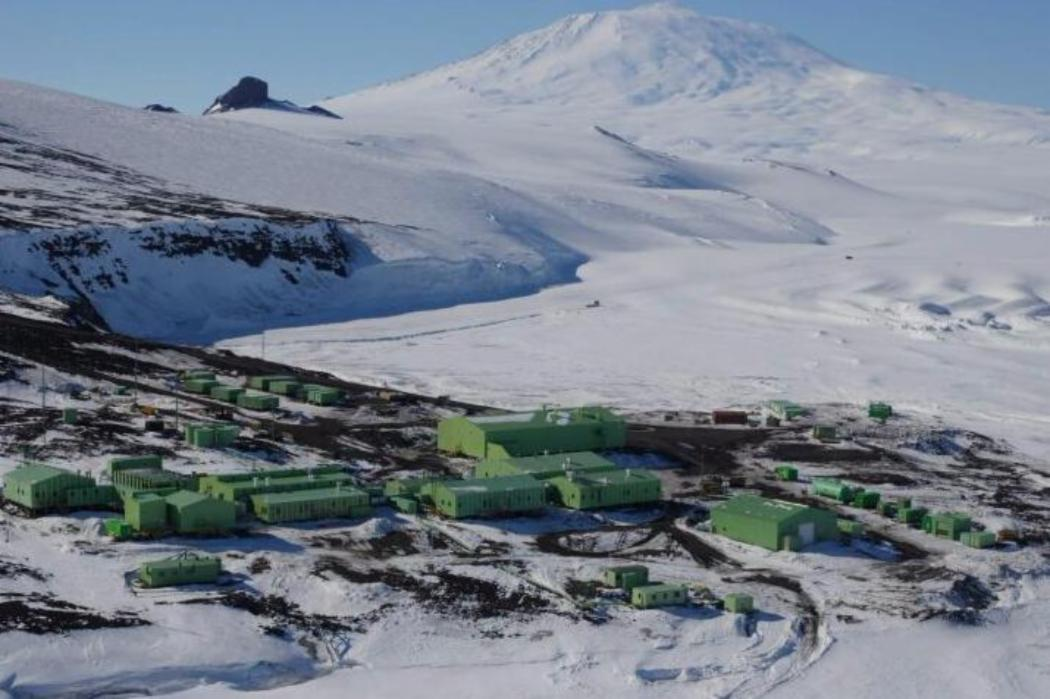 scott base from the air, Antarctica
