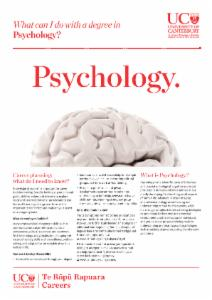 Psychology Careers information