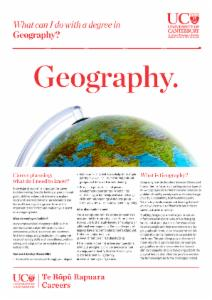 Careers Geography