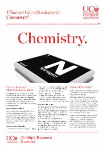 Careers Chemistry