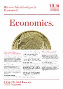 Careers Economics