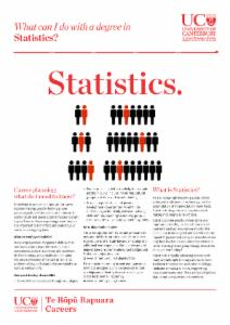 Statistics Careers information