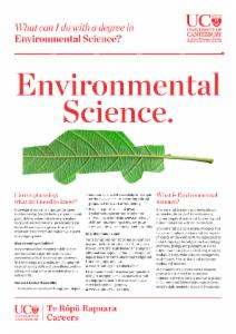 Careers Environmental Science
