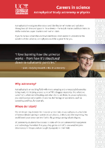 Careers in Science - Astrophysics brochure