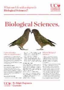 Careers Biological Sciences