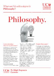 Philosophy Careers information