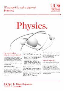 Careers Physics