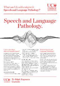 Careers Speech and Language pathology