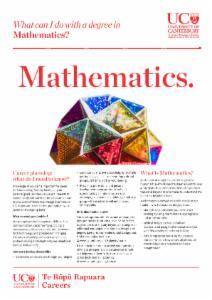Mathematics Careers information