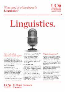 Careers Linguistics