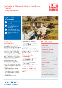 PMEG Professional Master in Engineering Geology