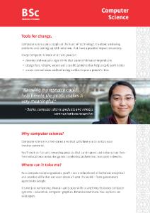BSc Computer Science 2020 flyer
