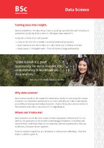 BSc Data Science 2020 flyer