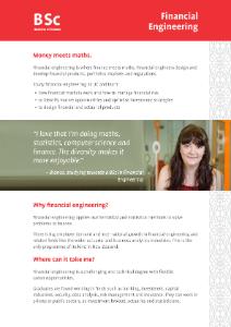BSc Financial Engineering 2020 flyer