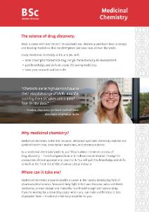 Medicinal Chemistry brochure