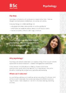 BSc Psychology 2020 flyer