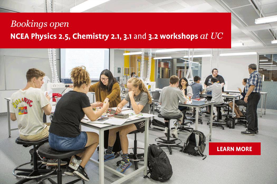 UC Science NCEA workshops