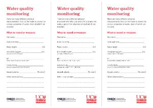 Water quality monitoring activity in the freshwater biodiversity box outreach module