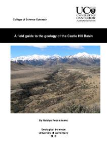 Castle Hill Field Guide (Teacher version)