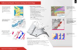 Geology poster, Kaikoura earthquake tectonic setting and seismology