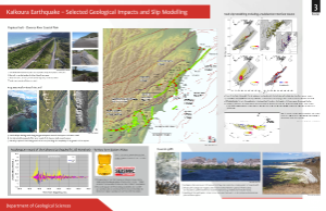 Geology Kaikoura earthquake Geological impacts poster