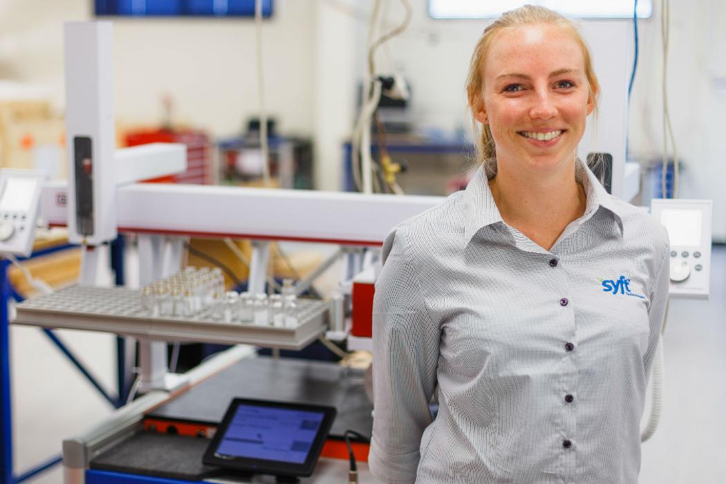 UC graduate Helena Barnes at Syft Technologies