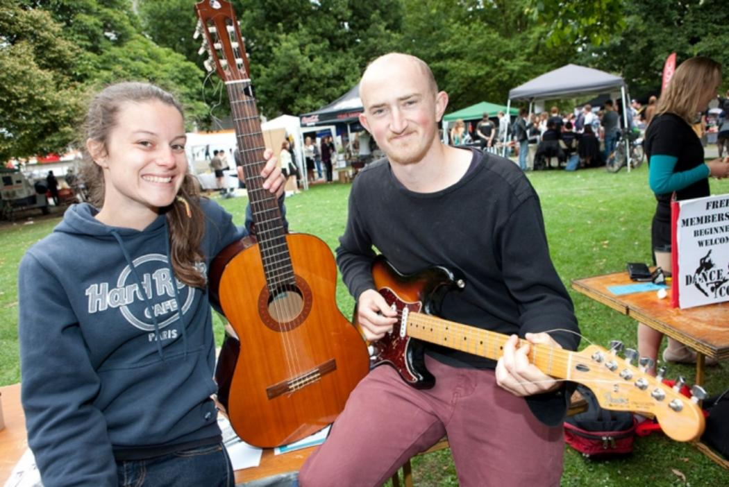 Guitar musicians club at Orientation week