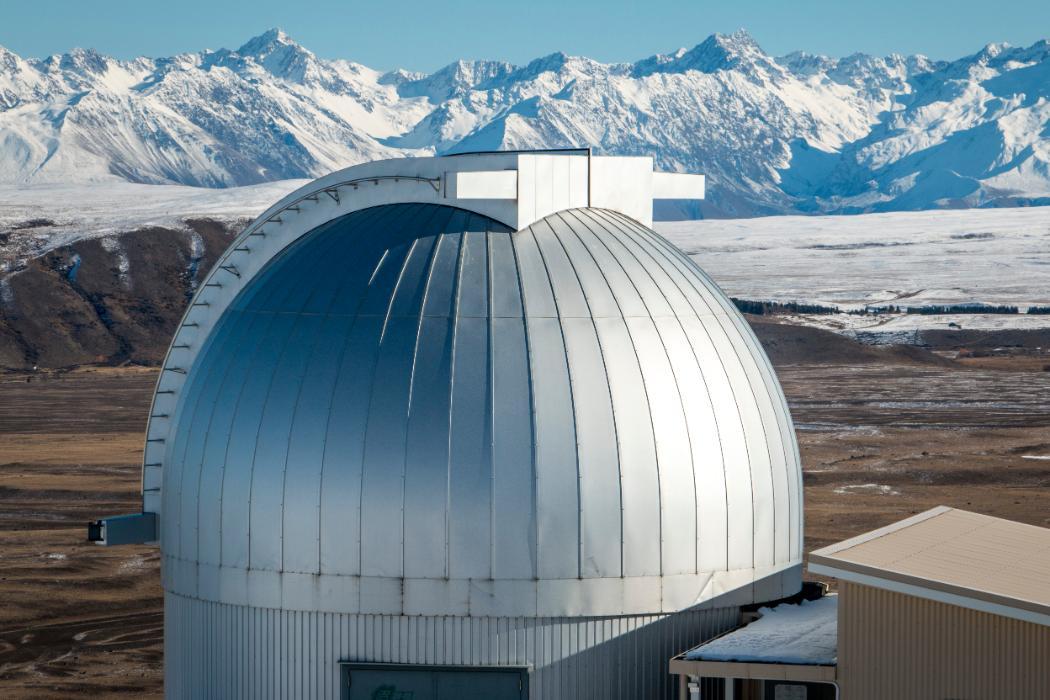Mt John Observatory in winter