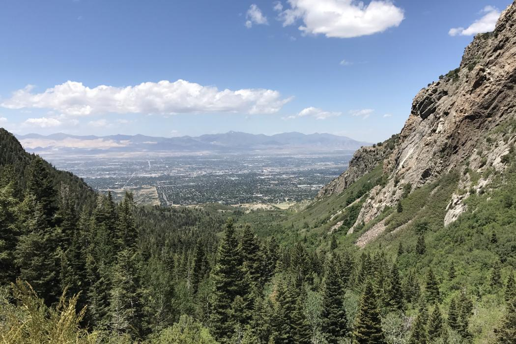City from the mountains, Environmental science