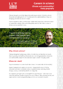 Brochure for Climate and Sustainability (Geography) BSc package