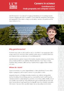 Brochure for Geoinformatics (Geography and Computer Science) BSc package