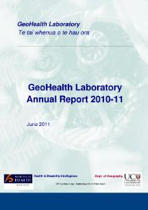 GeoHealth Laboratory Annual Report 2010-11