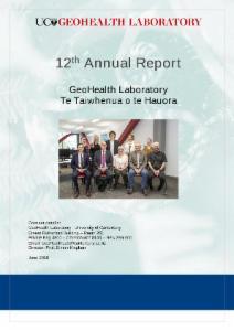 GeoHealth Laboratory Annual Report 2017 - 2018