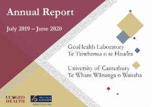 GeoHealth Laboratory Annual Report 2019 - 2020