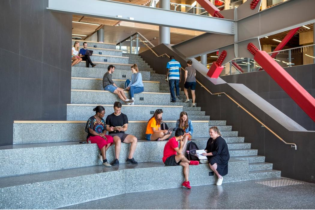 students on social steps in rrsic