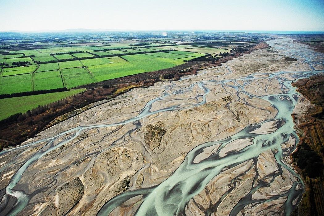 braided stream aerial photograph