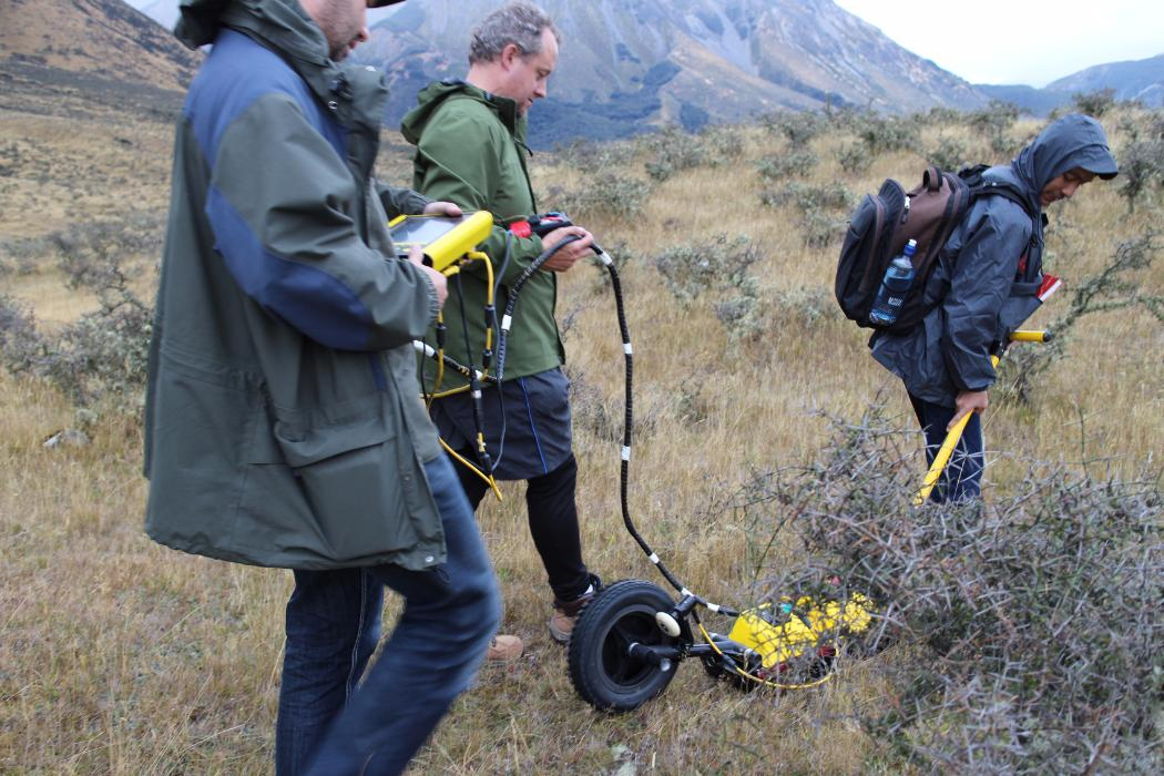 Geographers use Ground Penetrating Radar